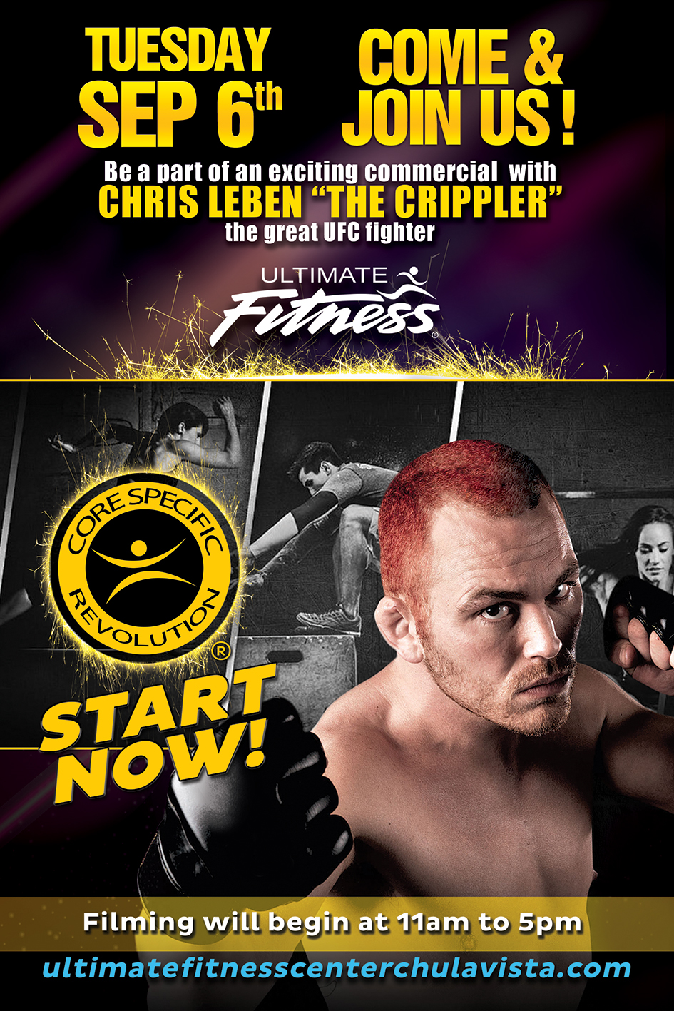 UFC Fighter Chris Leben and Core Specific Boot Camps