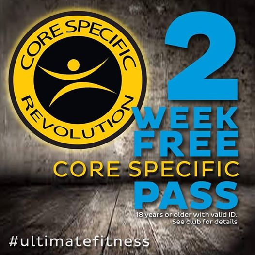 2 Week Free Pass & Core Specific Revolution Class